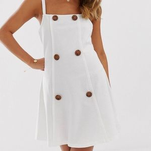 Loop back sundress with buttons